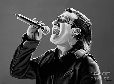 U2 Mixed Media - Bono U2 by Meijering Manupix