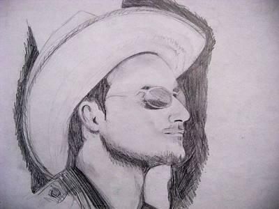 U2 Drawing - Bono Vox by Agata Suchocka-Wachowska