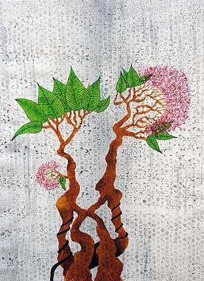 Floral Painting - Bonsai 3 by Sumit Mehndiratta