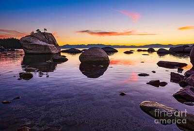 Bonsai Rock Photograph - Bonsai Sunset by Jamie Pham