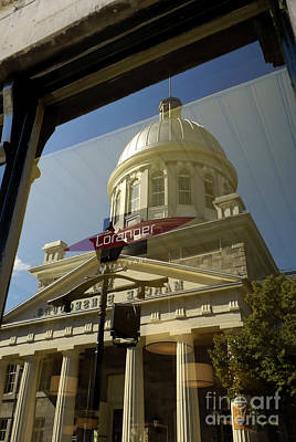 Photograph - Bonsecours Market Reflected by John  Mitchell