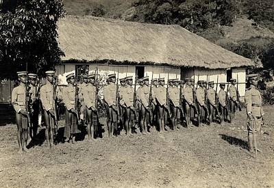 Filipino Photograph - Bontoc Soldiers by American Philosophical Society