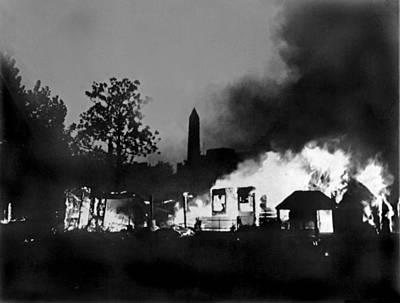 Macarthur Wall Art - Photograph - Bonus Army Camp Fires by Underwood Archives