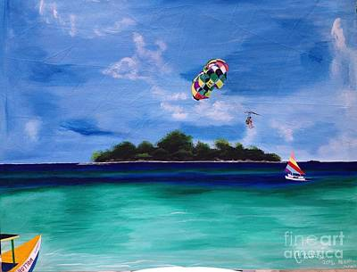 Boobies Painting - Booby Cay In Negril Jamaica by Cavan Parkes