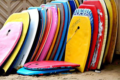 Body Surfing Photograph - Boogie Boards by Art Block Collections