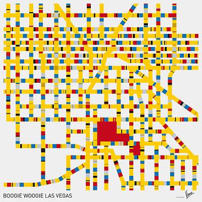 Paris Digital Art - Boogie Woogie Las Vegas by Chungkong Art