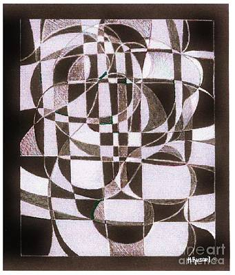 Abstract Shapes Drawing - Boogiewoogiejam by Herb Russel