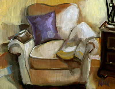 Painting - Book Club For One by Pattie Wall