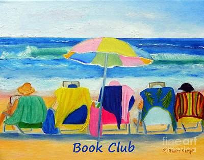 Painting - Book Club - Print Of Women Reading On The Beach by Shelia Kempf