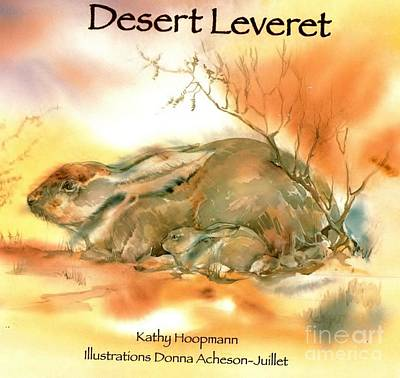 Painting - Book Cover Desert Leveret by Donna Acheson-Juillet