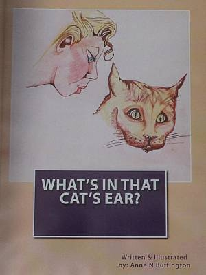 Book Cover For Whats In That Cats Ear A Children's Book  Art Print