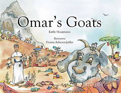 Painting - Book Cover Of Omar's Goats by Donna Acheson-Juillet
