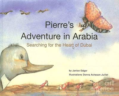 Painting - Book Cover Pierre's Adventure In Arabia by Donna Acheson-Juillet