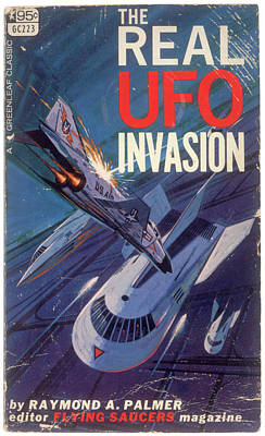 Book Cover Drawing - Book Cover, The Real Ufo Invasion by Mary Evans Picture Library