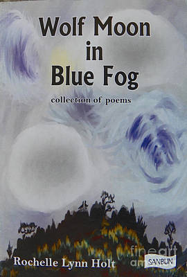 Digital Art - Book Cover - Wolf Moon In Blue Fog by Dawn Senior-Trask