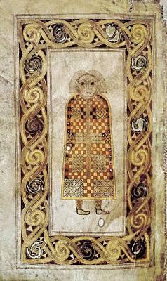Fine Art Miniatures Photograph - Book Of Durrow. Ca.  675. The Man by Everett