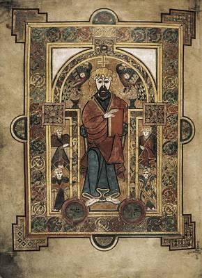 Fine Art Miniatures Photograph - Book Of Kells. 8th-9th C. Saint John by Everett