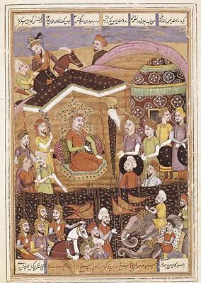 Safavid Persia Photograph - Book Of Kings. 16th C. Ferdowsis Book by Everett