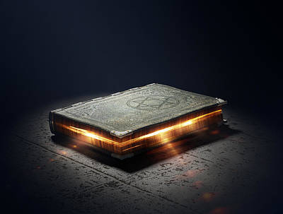 Conceptual Photograph - Book With Magic Powers by Johan Swanepoel