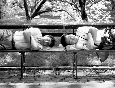 Photograph - Bookends On Benches by Dave Beckerman
