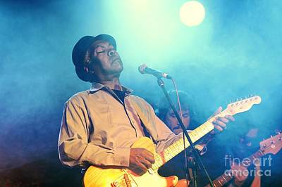 Booker T Jones Us Blues Singer Musician Performing At Maryport Blues Festival  2010 England Art Print