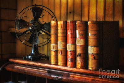 Books And Fan Art Print by Jerry Fornarotto