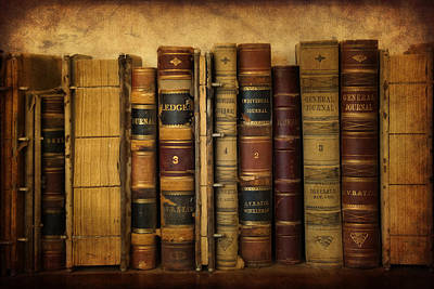 Ledger Books Wall Art - Photograph - Books And Ledgers by Priscilla Burgers