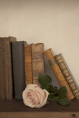 Floral Photograph - Books And Rose by Ethiriel  Photography