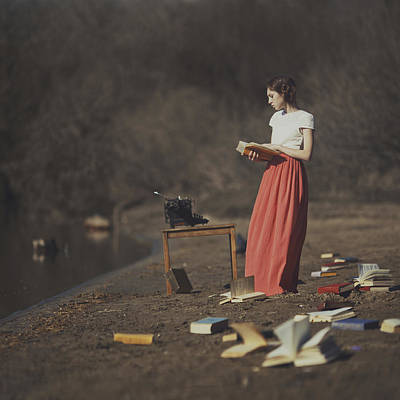 Reading Photograph - Books by Anka Zhuravleva