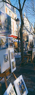 Books At A Stall With Basilique Du Art Print by Panoramic Images