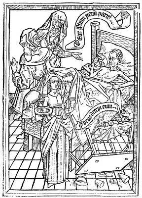 Literature Painting - Books Incunabulum, C1450 by Granger