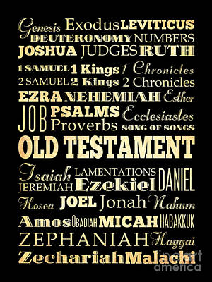 Books Of Old Testament Art Print by Joy House Studio
