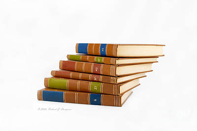 Photograph - Books Stacked by Richard J Thompson