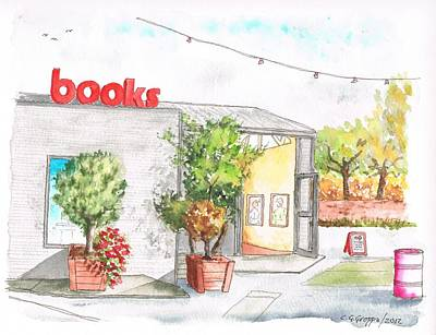 Santa Monica Painting - Books Store In Bergamot Station - Santa Monica - California by Carlos G Groppa