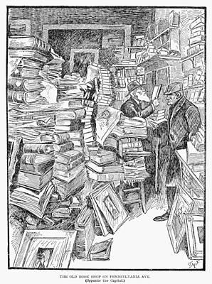 Pennsylvania Drawing - Bookshop, 1902 by Granger