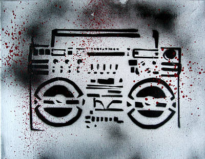 Painting - Boom Box by Khryztof Holtwick