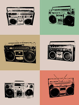 Boom Box Poster Art Print by Naxart Studio