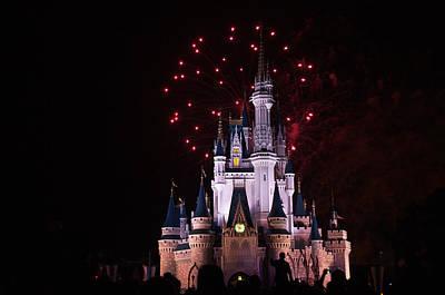 Red Fireworks Photograph - Boom by Ryan Crane