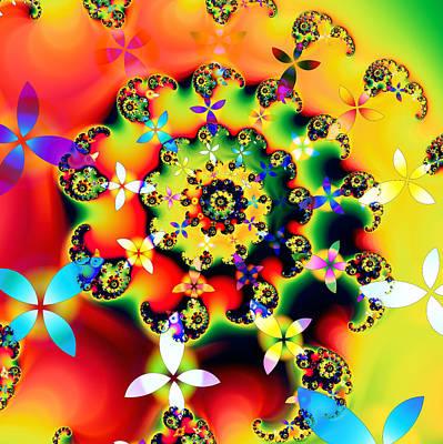 Kaleidoscope Digital Art - Boom by Sharon Lisa Clarke