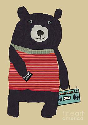 Oxley Studio Digital Art - Boomer Bear  by Bri B