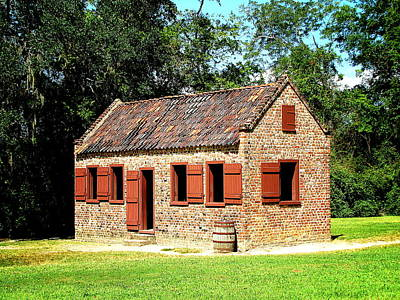 Photograph - Boone Hall Plantation Slave Quarters by Greg Simmons