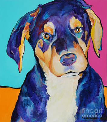 Rottweiler Painting - Boone by Pat Saunders-White