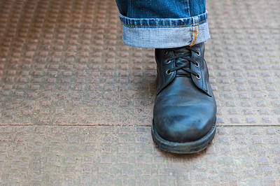 Photograph - Boot And Denim by Kantilal Patel
