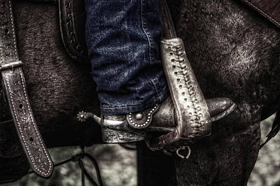 Horse Photograph - Boot And Saddle And Jeans by Greg and Chrystal Mimbs