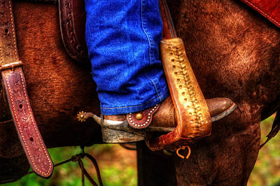 Horse Photograph - Boot And Saddle by Greg Mimbs