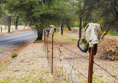 Photograph - Boot Fence by Wes Jimerson