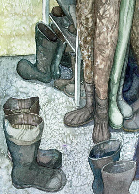 Painting - Boot Room by Helen Klebesadel