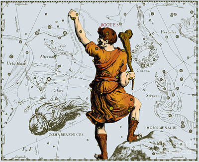 Bootes Constellation, 1687 Art Print by Science Source