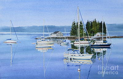 Boothbay Harbor Reflections Print by Karol Wyckoff