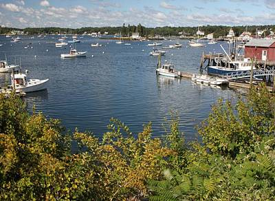 Photograph - Boothbay Harbor Vista by Carolyn Jacob